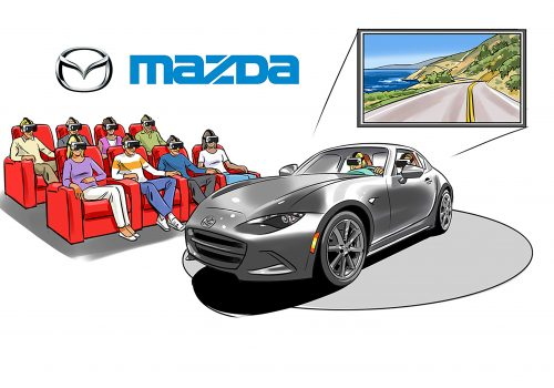 Mazda VR Event Illustration