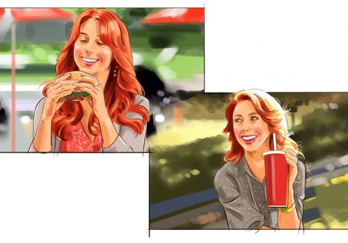 Wendy's Storyboard Illustration