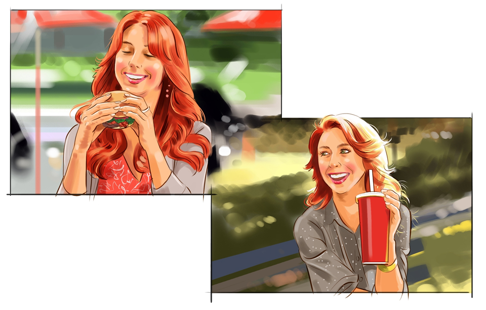 Wendy's Storyboard Illustration