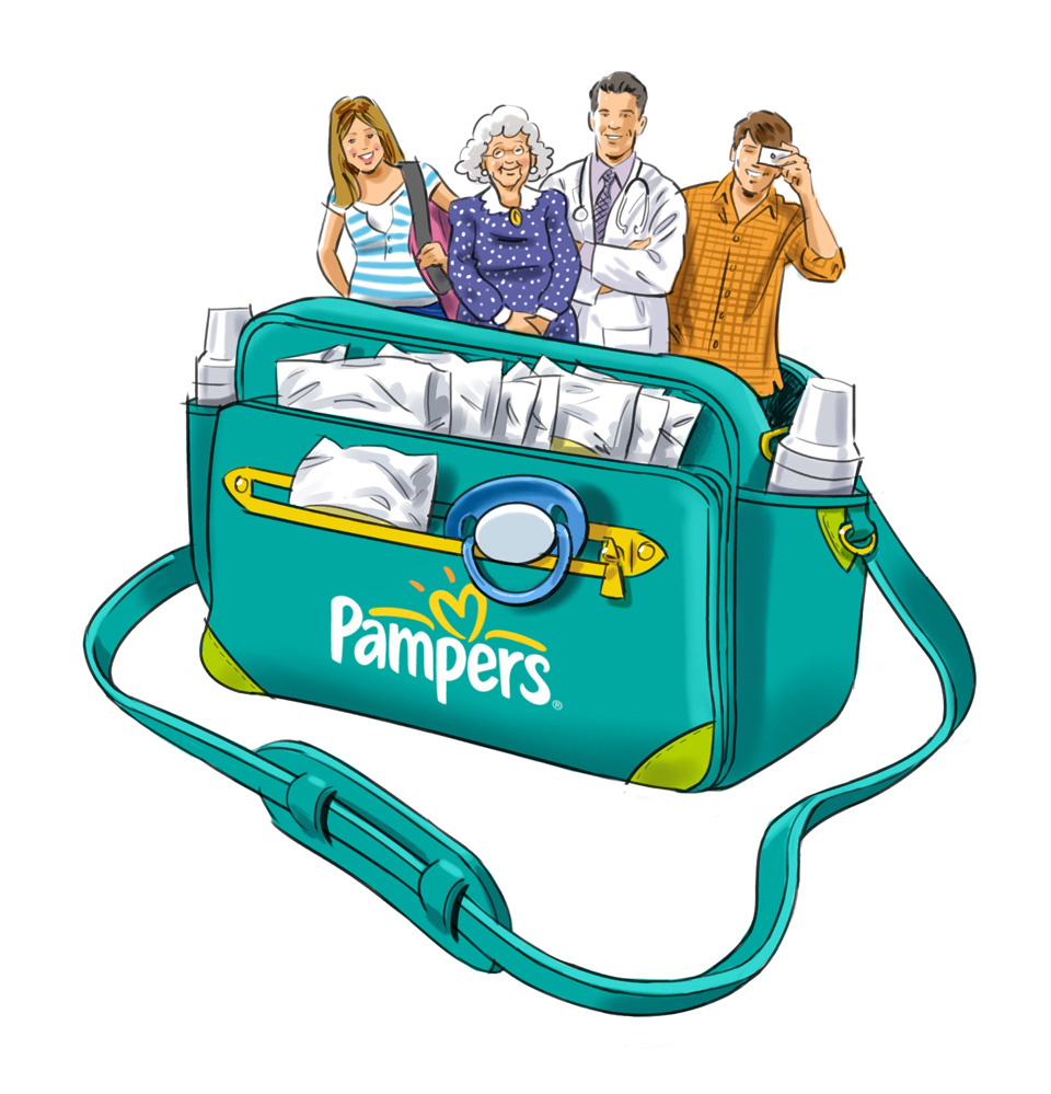 pampers bag
